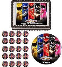 power rangers cake toppers power rangers edible birthday party cake topper