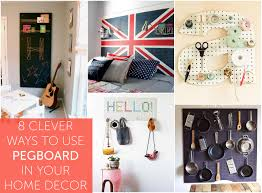 kitchen pegboard ideas 8 clever ways to use pegboard in your home decor