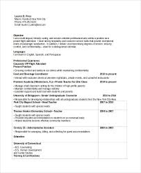 Cabin Crew Objective Resume Sample Sample Flight Attendant Resume 6 Examples In Pdf Word