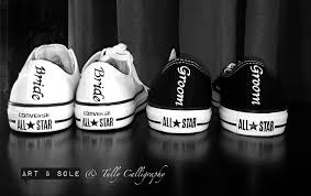 customised converse with art u0026 sole tully calligraphy