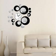diy self adhesive modern acrylic clock mirror wall room decal