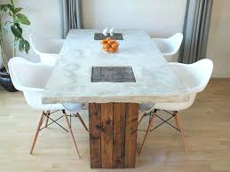 Making A Wooden Table Top by Concrete And Wood Table U2013 Thelt Co