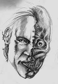 two face sketch by messypandas on deviantart