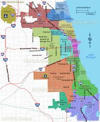 Chicago Loop Map by Chicago Map Map Of Chicago Neighborhoods Chicago Illinois Map