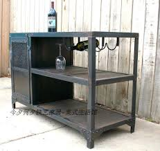Metal Bar Cabinet Original Single American Country Wrought Iron Furniture Wine
