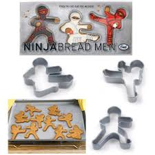 cookie cutters shaped like high kicking ninjas free shipping offer