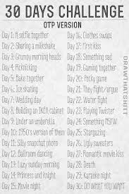 30 days challenge otp version drawing challenges pinterest