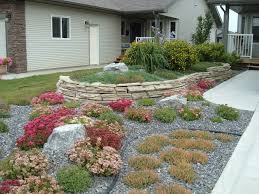 minimal maintenance landscaping a no lawn front yard with rock