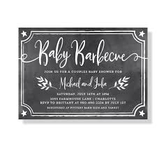 grey and white baby shower invitations chalkboard baby bbq baby shower invitation babyq invitation
