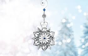 waterford snowflake wishes friendship ornament 2017 cobalt jewels