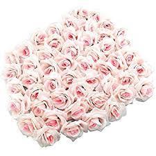 Wedding Flowers Roses Amazon Com Topixdeals Silk Cream Roses Flower Head Artificial