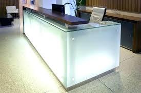 Reception Desk Glass Glass Reception Desk Glass Reception Desk Frosted Design Frosted