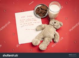 christmas wish letter lonely child teddy stock photo 42033055