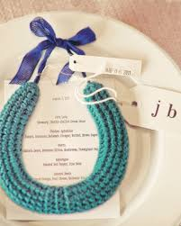 Horseshoe Party Favors A Crocheted Horseshoe Wall Hanging For Good Luck Wedding Favors