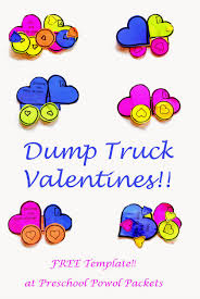 dump truck valentines u0026 free printable template preschool powol