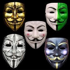 v for vendetta mask v for vendetta mask costume mask gold silver white black
