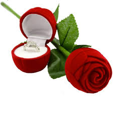 box cincin tempat box cincin bunga mawar merah elevenia