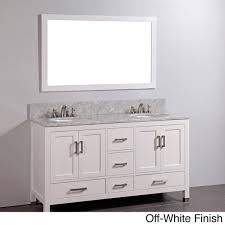 Marble Top Bathroom Cabinet Bathroom Vanity Double Sink Marble Top Off White Finish Faucet Not