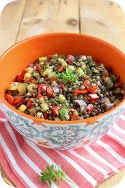 cuisiner les lentilles vertes salade de lentilles vertes aux petits légumes