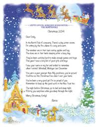 santa letters personalized letters from santa personalized santa letters