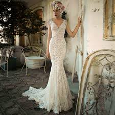 lace mermaid wedding dress mermaid wedding dress 2016 white tulle beaded lace pearls