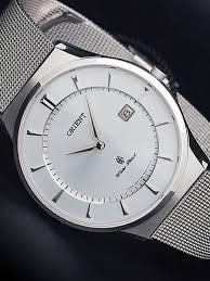 sapphire crystal bracelet images Orient palmer quartz analog dress watch with mesh bracelet gw03005w jpg