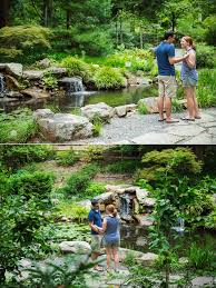 doug u0026 amber u0027s surprise engagement session uncc botanical gardens