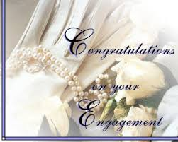 congratulate engagement pearls and flowers congrats on engagement