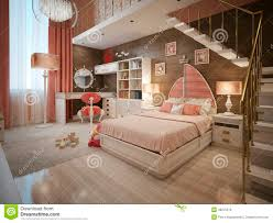 girls bedroom in neoclassical style stock illustration image