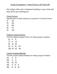 5th grade prime factorization worksheets for 5th grade