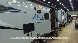 coachmen travel trailer floor plans coachmen apex ultra lite 7 5 212rb youtube