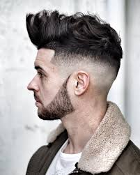 quiff hairstyle short sides color