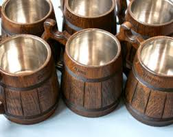 wooden groomsmen gifts groomsmen gift wooden mug oak conical wood mug for cold and