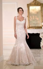 Elegant Wedding Gowns Satin U0026 Lace Fit And Flare Wedding Dress Stella York Wedding Dresses