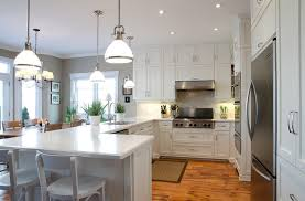 Traditional Kitchens With White Cabinets - moore white dove cabinets in traditional kitchen