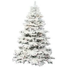 flocked alaskan 9 white artificial tree with 1200 led