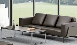 Buy Larry Three Seater Office Sofa In Leather Bosss Cabin - Sofa in leather