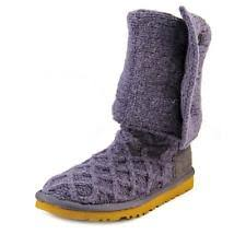 womens navy boots australia ugg s sz 5 navy blue three button lattice cardy knit boots