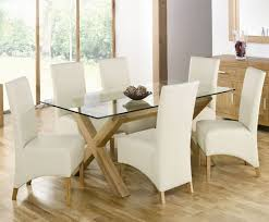 Rectangular Glass Top Dining Room Tables Glass Top Dining Tables With Wood Base Glass Chrome Polishes