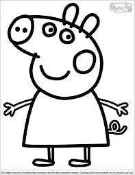 good peppa pig coloring pages 67 about remodel free colouring