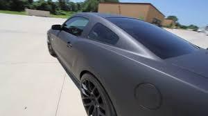 Black 2011 Mustang Gt 2011 Mustang Gt 5 0 Flat Black Vehicle Wrap Youtube
