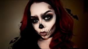 simplistic skull halloween makeup youtube