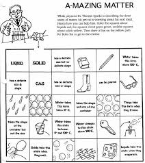 matter worksheets solid liquid gas worksheet science with