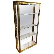 Antique Brass Display Cabinet Late 19th Century French Brass Wall Vitrine Cabinet At 1stdibs