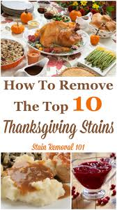 how to remove the top 10 thanksgiving stains