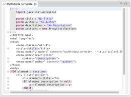 xtext template language