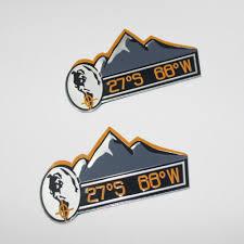 jeep wrangler stickers online shop 2pcs aluminum foil mountain 27s 68w decal emblem