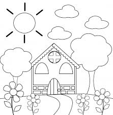 coloring page house preschool coloring page house kidspressmagazine