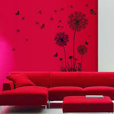 sl home decor ussore wall sticker dandelion butterfly stickers removable mural