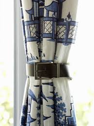 Tie Back Kitchen Curtains by How To Use Leather Belts As Curtain Tiebacks Leather Belts Hgtv